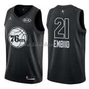 Maillot NBA Pas Cher Philadelphia 76ers Joel Embiid 21# Black 2018 All Star Game Swingman..
